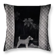 Window Scene Throw Pillow