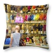 Window Shopper Throw Pillow