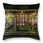 Window Shopping, French Quarter, New Orleans Throw Pillow