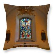 Window Teda Church Throw Pillow