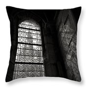 Window To Mont St Michel Throw Pillow by Dave Bowman
