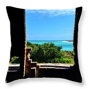 Window To Paradise Throw Pillow