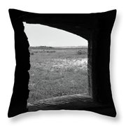 Window To The Battle Field Throw Pillow