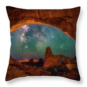 Window To The Heavens Throw Pillow