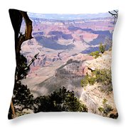 Window To The Past 1 - Grand Canyon Throw Pillow