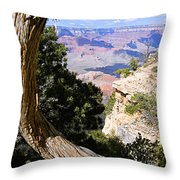 Window To The Past 21 - Grand Canyon Throw Pillow
