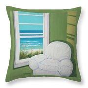 Window To The Sea No. 2 Throw Pillow