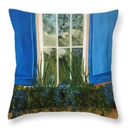 Window To The World Throw Pillow