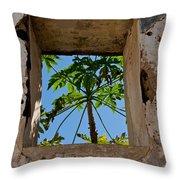 Window Tree Throw Pillow