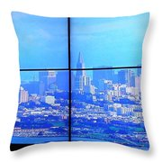 Window View Of San Francisco Throw Pillow