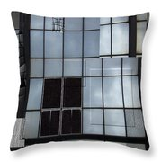 Window Washed Throw Pillow