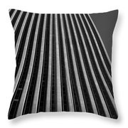 Window Washers View - Black And White Throw Pillow