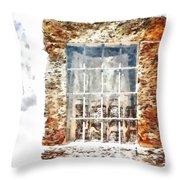 Window With Shadow On The Wall Throw Pillow