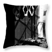 Window Workbench Throw Pillow