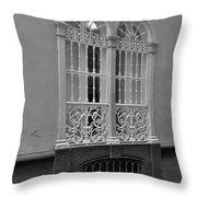 Windows At Cadiz Bw Throw Pillow