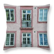 Windows Of The French Style Throw Pillow
