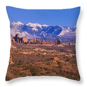 Windows Section, Arches National Park Throw Pillow