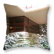 Windows Stones Fallingwater  Throw Pillow
