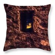 Windows To Castles Throw Pillow