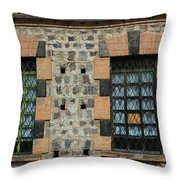 Windows With Steel Grates Throw Pillow