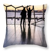 Windowscape Throw Pillow