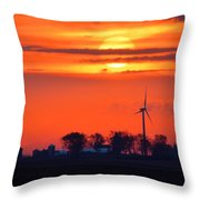Windpower Sunrise Throw Pillow