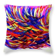 Winds Of Paint Throw Pillow