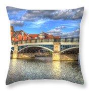 Windsor Bridge River Thames Throw Pillow