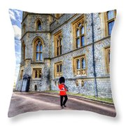 Windsor Castle And Coldstream Guard Throw Pillow