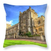 Windsor Castle Architecture Throw Pillow