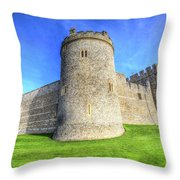 Windsor Castle Battlements  Throw Pillow