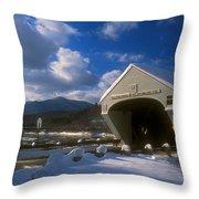 Windsor Cornish Bridge And Mount Ascutney Throw Pillow