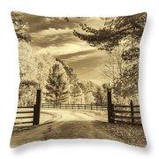 Windstone Farm - Sepia Throw Pillow