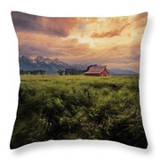 Windstorm On The Prairie Throw Pillow