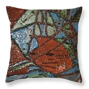 Windstorm Tile Throw Pillow
