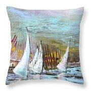 Windsurf Impression 03 Throw Pillow