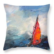 Windsurf Impression 04 Throw Pillow