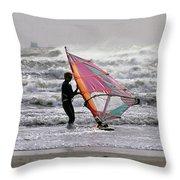 Windsurfer, Aransas Pass, Texas Throw Pillow