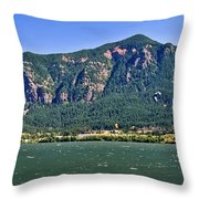 Windsurfing In The Gorge Throw Pillow