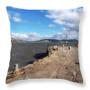 Windswept Cobb - Lyme Regis Throw Pillow