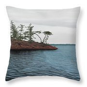 Windswept Island Georgian Bay Throw Pillow