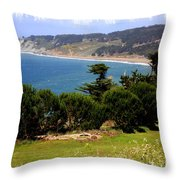 Windswept Over San Francisco Bay Throw Pillow
