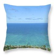Windward Oahu Panorama II Throw Pillow