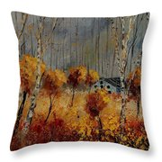 Windy Autumn Landscape  Throw Pillow