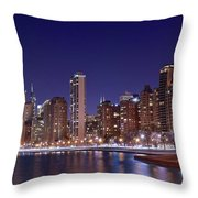 Windy City Lakefront Throw Pillow
