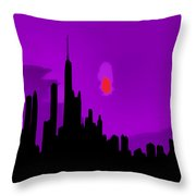 Windy City Sunset Throw Pillow