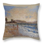 Windy Day At Sea Throw Pillow