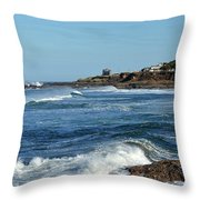 Windy Day At Yachats Throw Pillow