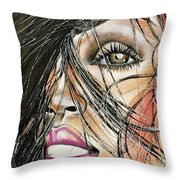 Windy Daze Throw Pillow