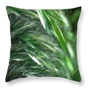 Windy Fractal Field Throw Pillow